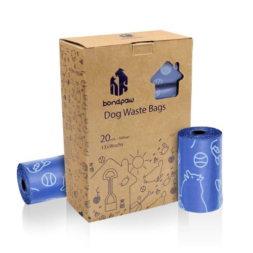 Bondpaw Dog Poop Bags, Thick Pet Waste Bags With Dispenser for Walking, About One Year Consumption For Your Pets