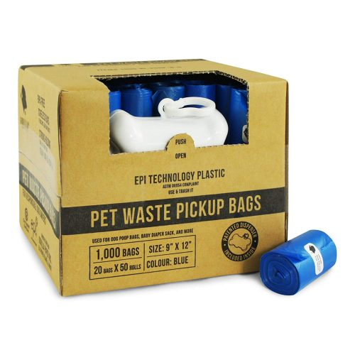 Gorilla Supply 1000 Pet Poop Bags w Free Dispenser