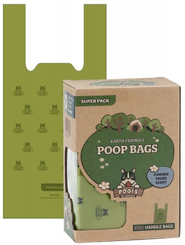Pogi's Poop Bags with Easy-Tie Handles - Earth-Friendly, Leak-Proof Dog Waste Bags