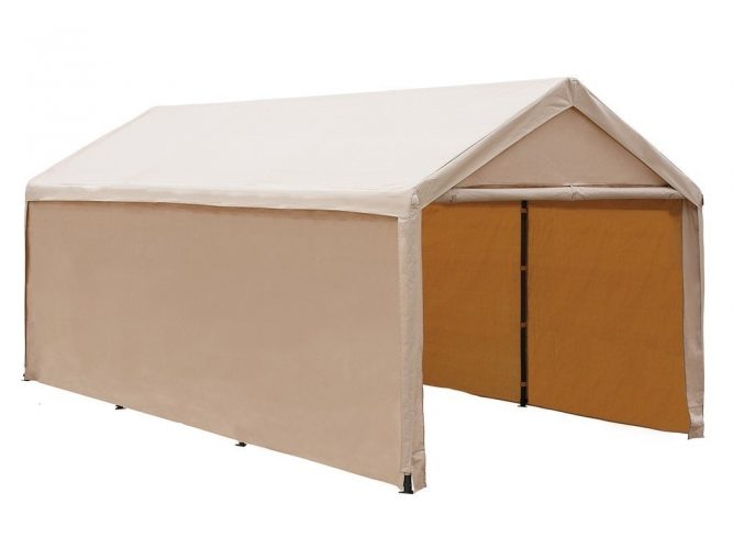 Abba Patio 10 x 20 ft Heavy Duty Beige Carport, Car Canopy Versatile Shelter with Sidewalls, Beige