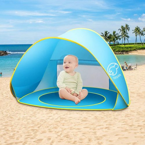 Baby Beach Tent Nequare Pop Up Tent Baby Beach Pool Sun Shelter UV Protection Beach Shade for Baby and Family