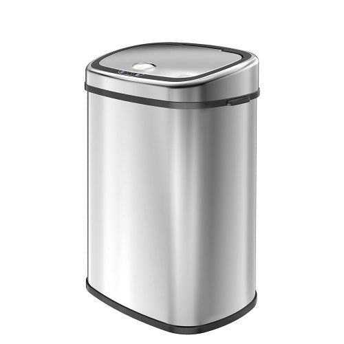1home 58L/15.3-Gallon Infrared Touchless Automatic Motion Sensor Stainless Steel Trash Can - Stainless Steel Trash Cans