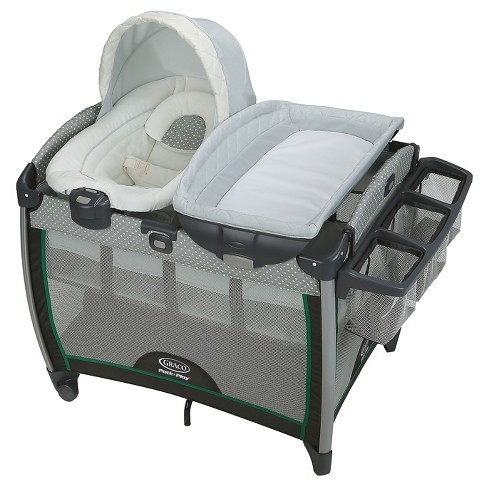Graco Pack 'n Play Quick Connect Portable Bouncer with Bassinet, Albie, One Size