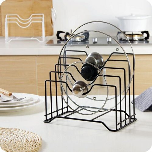 Pot Lid Holder,Lid Organizer,Pot Lid Rack Storage,Pan Lid Cover Cabinet Pantry Holder Rack Organizer, Multifunctional Kitchen Cookware Chopping Board Organizer Storage Rack By Meleg Otthon