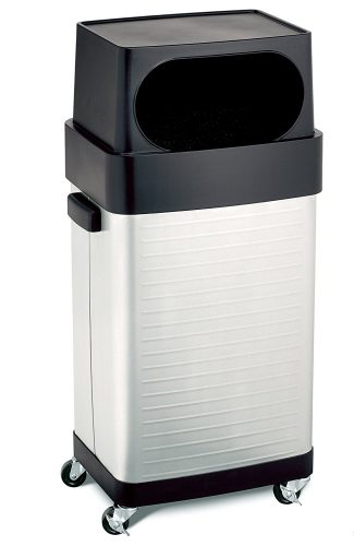 Seville Classics 17-Gallon UltraHD Commercial Stainless Steel Trash Bin - Stainless Steel Trash Cans