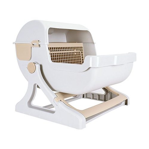 UHeng Luxury Pet Cat Toilet Semi Automatic Quick Cleaning Litter Box - Cat Self-Cleaning Litter Boxes