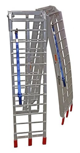 "Pit Posse PP2755P Pair Of Lawnmower ATV Loading Ramps Folding Aluminum 89"" 1500lb Rated - ATV ramps"