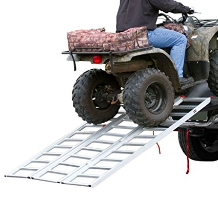 Black Widow Rage Powersports ST-TF-7449 Steel Tri-Fold ATV Loading Ramp (74' Portable) - ATV ramps