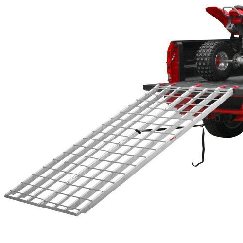Black Widow Aluminum Extra-Long Bi-Fold ATV Ramps – IBF-9550 – 50 Inches Wide – Serrated Rungs for Traction – Two Safety Tie-Down Straps – One-Year Warranty - ATV ramps