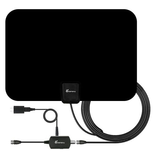 Wsky HDTV Antenna 16.5ft Coax Cable Support All TVs 2020 Newest Indoor Amplified Digital TV Antenna 60-100 Miles Range Signal Booster for 4K Free Local Channels