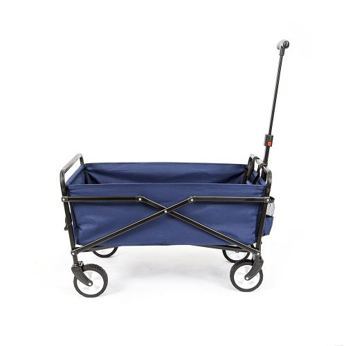 YSC Wagon Garden Folding Utility Shopping Cart, Beach (Black)