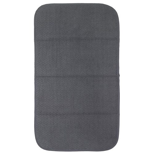 """Premium All-Clad Dual Surface, Reversible Dish Drying Mat for the Kitchen Counter, 1 Absorbent Drying Pad, 16"""" x 28"""", Pewter"""