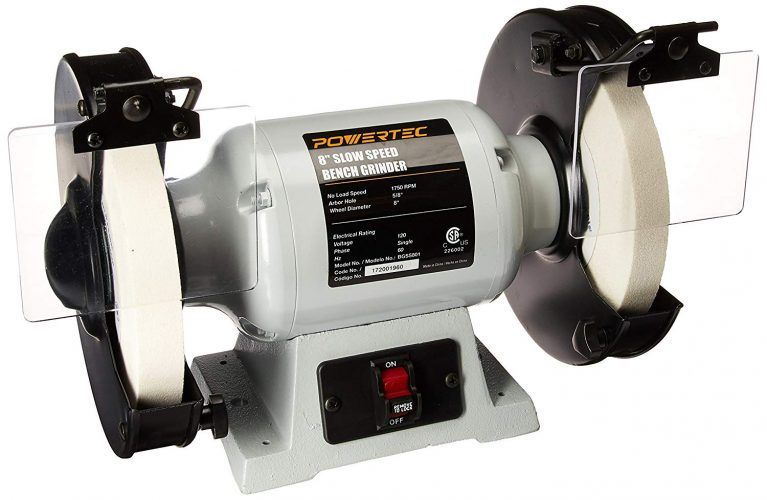 POWERTEC BGSS801 Slow Speed Bench Grinder, 8""