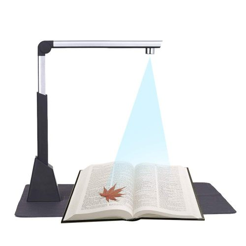 Aibecy Portable Document Camera Scanner High Speed 10 Mega-pixel HD High-Definition Max. A3 Scanning Size with OCR Function LED Light for Classroom Office Library Bank High Speed