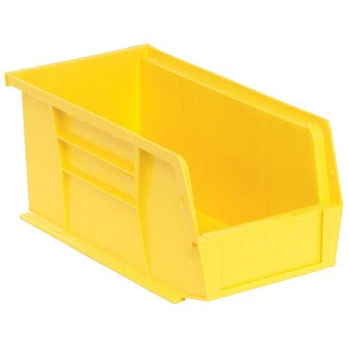 "Edsal PB8502Y High Density Stackable Plastic Bin, 5"" Width x 5"" Height x 11"" Depth, Yellow (Pack of 12) - Plastic Storage Bins"