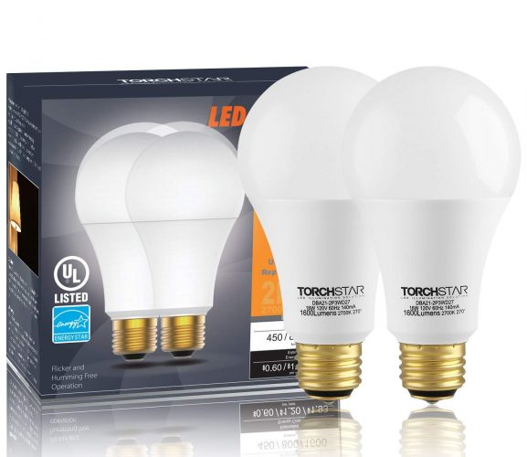 Energy Star 3-Way 40/60/100W Equivalent LED A21 Light Bulbs (2 pack)