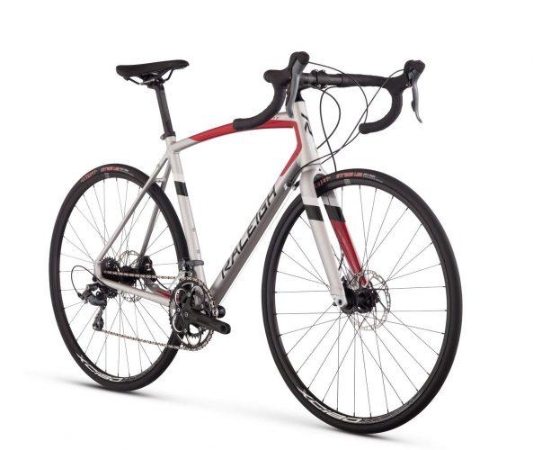 Raleigh Bikes Merit 2 Endurance Road Bike, Silver, 58cm/X-Large