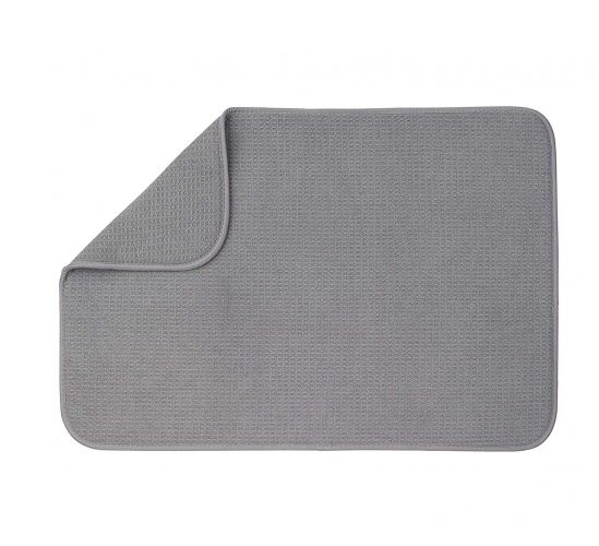 "XXL Dish Mat 24"" x 17"" (LARGEST MAT) Microfiber Dish Drying Mat, Super absorbent by Bellemain"