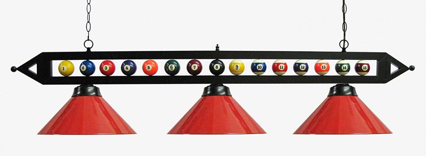 "Iszy Billiards59"" Black Metal Ball Design - Pool Table Lights"