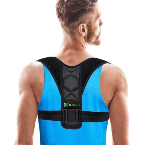 Adjustable Figure 8 Posture Corrector Upper Back & Shoulder Support Brace, Best Posture Brace Back Corrector for Women & Men - Posture Braces For Men And Women