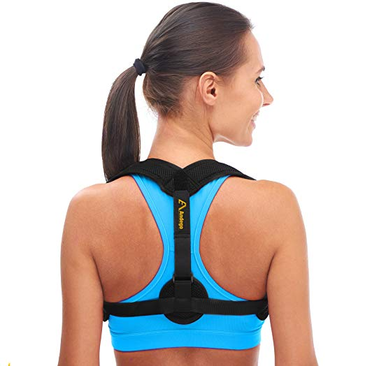 Andego Back Posture Corrector for Women - Men - Effective and Comfortable Posture Brace for Slouching Hunching - Posture Braces For Men And Women