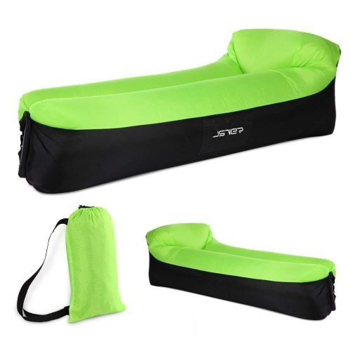 JSVER SVER Inflatable Lounger Air Sofa with Headrest for Travelling