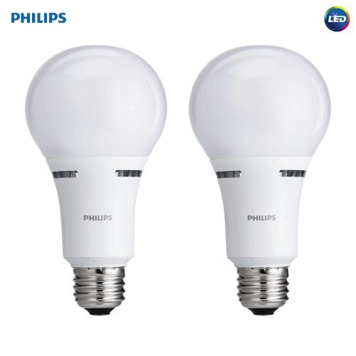 LED 3-Way A21 Frosted Light Bulb- Philips