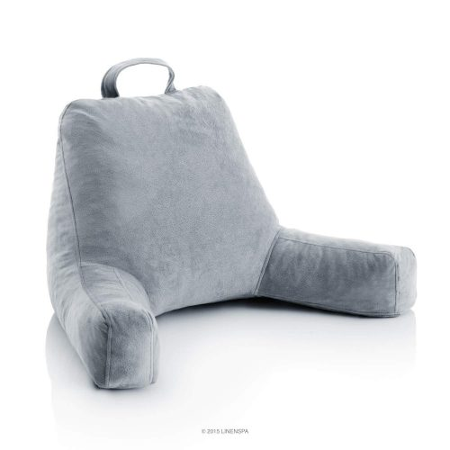 Linenspa Shredded Foam Reading Pillows - Perfect for Adults, Teens, and Kids - Velour Cover