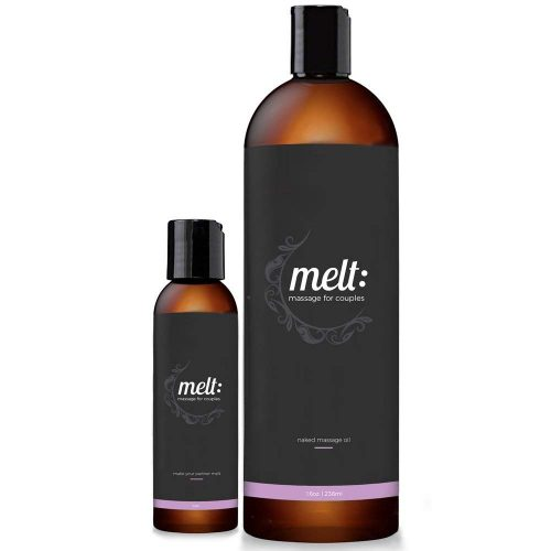 Melt 16oz Sensual Massage Oil Relaxing, Therapeutic Sweet Almond Oil Moisturizing Skin Therapy   Make Your Partner Melt