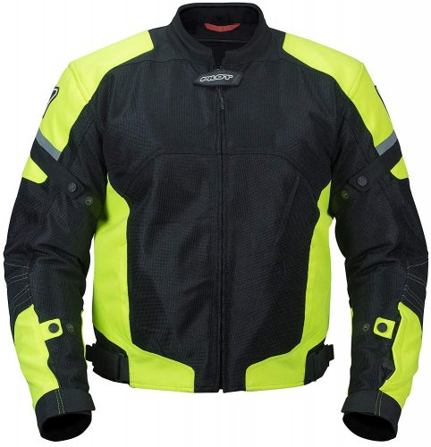 Pilot Motosport Men's Direct Air Mesh Motorcycle Jacket (V3) (Hi-Vis, XX-Large)