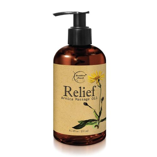 Relief Arnica Massage Oil – Great for Sports & Athletic Therapeutic Massage – All Natural - Arnica Montana for Sore Muscle Relief