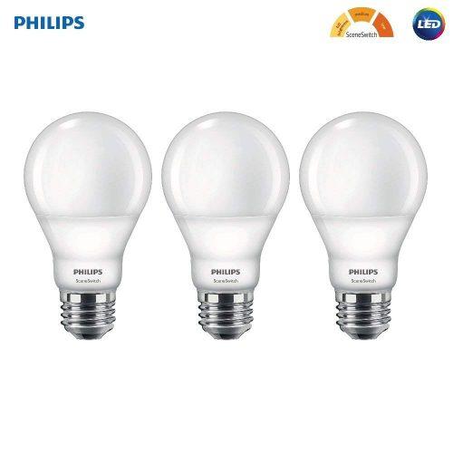 Scene Switch Soft White 3-Setting Light Bulb- Philips LED A19