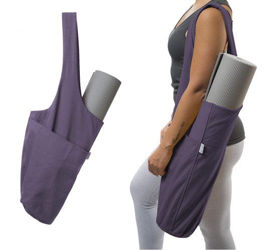Yogiii Yoga Mat Bag | The ORIGINAL YogiiiTote | Yoga Mat Tote Sling Carrier with Large Side Pocket & Zipper Pocket