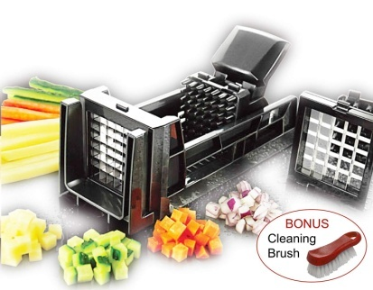 Tiger Chef French Fry Cutter and Easy Vegetable Dicer Chopper with 2 Interchangeable Blades.