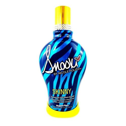 2014 SNOOKI SKINNY DARK BLACK BRONZER FIRMING INDOOR TANNING BED LOTION SUPRE, 12 oz - Tanning Bed Lotions