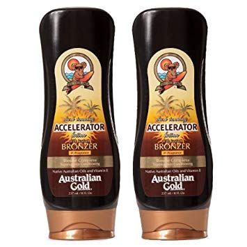 2 Pack Dark Tanning Accelerator Lotion with Bronzer - Tanning Bed Lotions