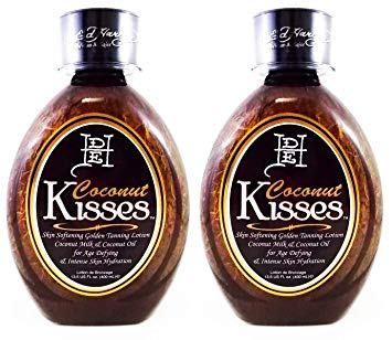 2 Ed Hardy Coconut Kisses Skin Softening Golden Indoor UV Bed Tanning Lotion - Tanning Bed Lotions