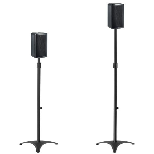 "Mounting Dream MD5401 Height Adjustable Speaker Stands Mounts, Two in One Floor Stands, Heavy Duty Base and ExtendableTube with 11 LBS Capacity Per Stand, 35.5-48"" Height Adjustment - Speaker Stands"