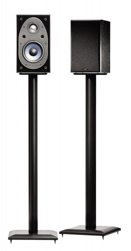 """Sanus NF36B 36"""" Natural Foundations Speaker Stand Black - Speaker Stands"""