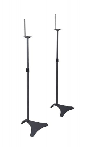 Atlantic Satellite 77305018 2 Speaker Stands, Black, 2 Stands Per Pack - Speaker Stands