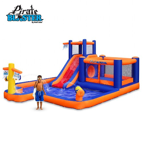Blast Zone Pirate Blaster Inflatable Water Park - Inflatable Pool Slides