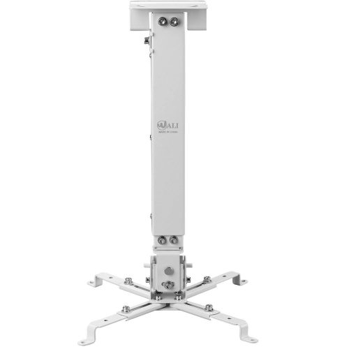 WALI Universal Multiple Adjustment Projector Flat Ceiling Mount Bracket with 25.6-inch Extension Pole, Hold up to 44 lbs. (PM-001-WHT), White