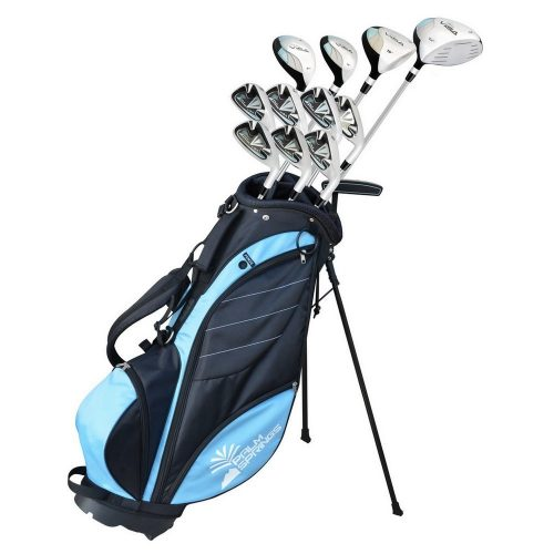 Palm Springs Golf VISA LADY ALL GRAPHITE Hybrid Club Set & Stand BagIRONLAND 0304 Tool Backpack Bag with An Independent Tool Wall, 57-Pocket