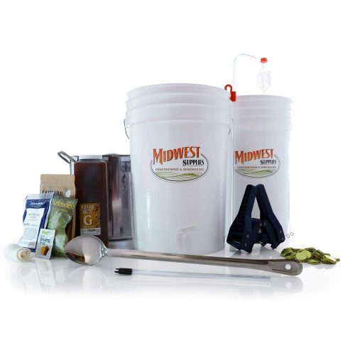 All Inclusive Platinum Pro HomeBrewing Beer Brewing Starter Kit - Front Porch Pale Ale Beer Making Recipe Kit With 5 Gallon Stainless Steel Brew Kettle And Fermentation Equipment
