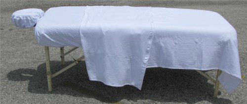 Deluxe Double Jersey Massage Sheet Sets, White - Massage Tables Sheet Cover