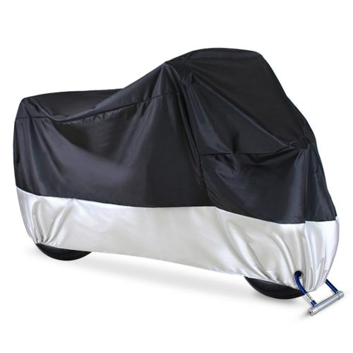 "Ohuhu Waterproof Motorcycle Cover, Fits up to 108"" Motors, 2 Anti-theft Lock-holes Design, Durable & Tear Proof"