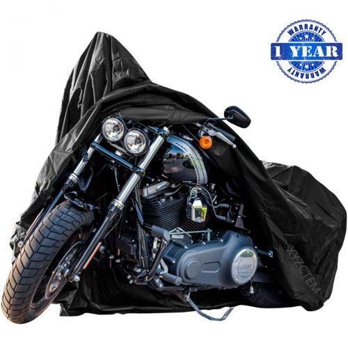 New Generation Motorcycle cover! XYZCTEM All Weather Black XXXL Large-Best Quality Waterproof Outdoor Protects Fits up to 118 inch