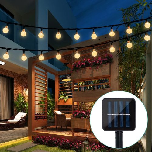 Globe String Lights, Crystal Balls Waterproof LED Fairy Lights - outdoor string lights