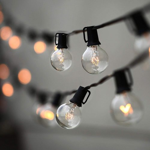String Lights, Lampat 25Ft G40 Globe String Lights with Bulbs-UL Listd - outdoor string lights