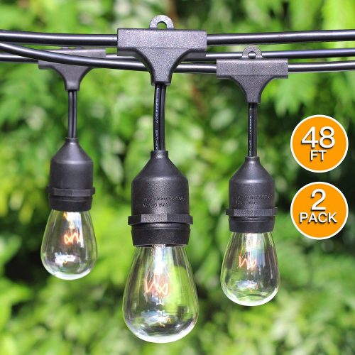 Pro Outdoor Patio String lights w/Edison Vintage - outdoor string lights